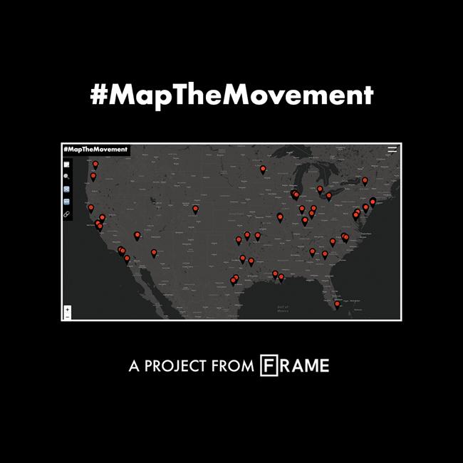 '#MapTheMovement' interactive documentary cover
